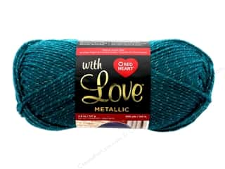 yarn & needlework: Coats & Clark Red Heart With Love Yarn Metallic 4.5 oz 200 yd Teal
