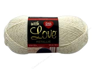 yarn & needlework: Coats & Clark Red Heart With Love Yarn Metallic 4.5 oz 200 yd Aran