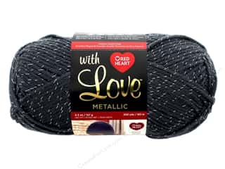 yarn & needlework: Red Heart With Love Metallic Yarn 200 yd. #8410 Charcoal
