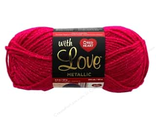 yarn & needlework: Red Heart With Love Metallic Yarn 200 yd. #8922 Fuchsia