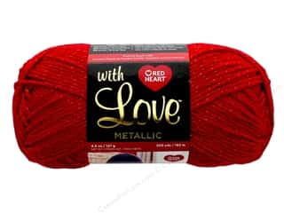 yarn: Red Heart With Love Metallic Yarn 200 yd. #8918 Red