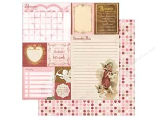scrapbooking & paper crafts: Bo Bunny On This Day Paper 12 in. x 12 in.   February (25 pieces)