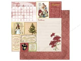 scrapbooking & paper crafts: Bo Bunny On This Day Paper 12 in. x 12 in.  December (25 pieces)