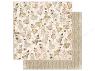 scrapbooking & paper crafts: Bo Bunny Collection Charmed Paper 12 in. x 12 in. Dance (25 pieces)