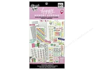 stickers: Me&My Big Ideas Create 365 Happy Memory Keeping Sticker Value Pack BIG Dates and Holidays