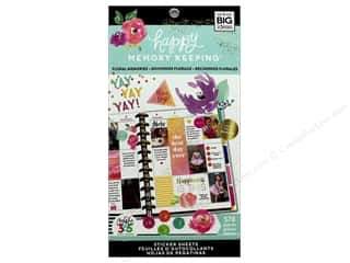 Me&My Big Ideas Create 365 Happy Memory Keeping Sticker Value Pack BIG Floral Memories