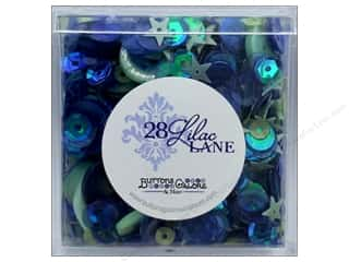 seed beads: Buttons Galore 28 Lilac Lane Shaker Mix Indigo Mint