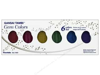 Kuretake Gansai Tambi Watercolors 6 Color Set Gem