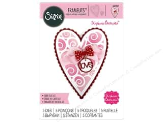 scrapbooking & paper crafts: Sizzix Dies Stephanie Barnard Framelits Card Fold It Heart