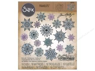 Clearance: Sizzix Tim Holtz Framelits Die Set 18 pc. Swirly Snowflakes
