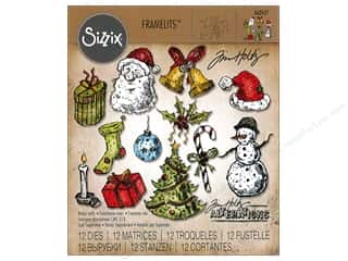 Sizzix Tim Holtz Framelits Die Set 12 pc. Tattered Christmas