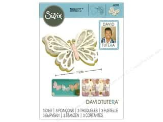 die cuts: Sizzix Dies David Tutera Thinlits Large Delicate Butterfly