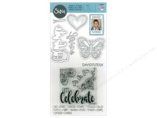 Clearance: Sizzix Die & Stamp David Tutera Framelits Let's Celebrate