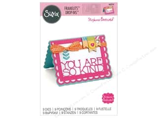 scrapbooking & paper crafts: Sizzix Dies Stephanie Barnard Framelits Drop In Scallop Thanks