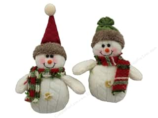 novelties: Darice Ornament 5 in. Snowman with Hat & Scarf Assorted (12 pieces)