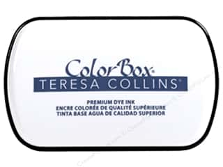 stamp cleaned: ColorBox Premium Dye Ink Pad Full Teresa Collins Beckett Blue