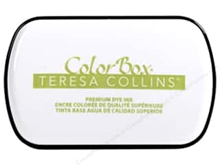 stamp cleaned: ColorBox Premium Dye Ink Pad Full Teresa Collins Luxuriant Green