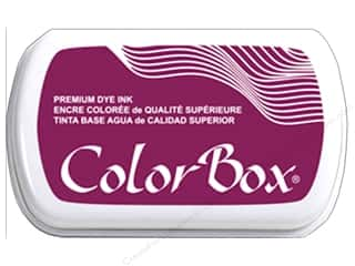 ink pads: ColorBox Premium Dye Ink Pad Full Size Burgundy