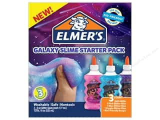 glues, adhesives & tapes: Elmer's Galaxy Slime Starter Pack