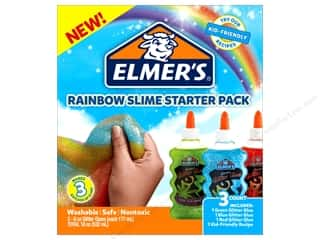 glues, adhesives & tapes: Elmer's Rainbow Slime Starter Pack