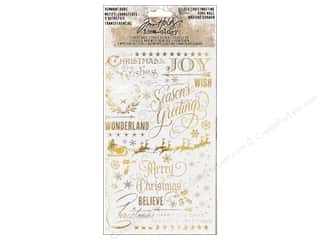 Tim Holtz Idea-ology Christmas Remnant Rubs Gilded