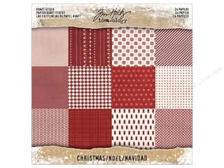 "Tim Holtz Idea-ology Christmas Paper Stash 8""x 8"" Kraft"