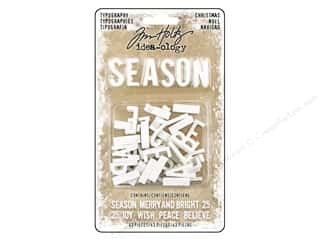 resin: Tim Holtz Idea-ology Christmas Typography