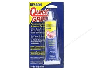 glues, adhesives & tapes: Beacon Quick Grip Permanent Adhesive 2 oz.