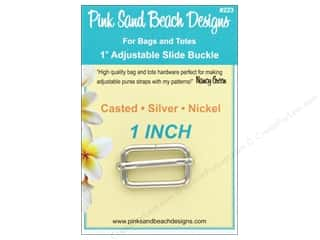 Pink Sand Beach Adjustable Slide Buckle Silver