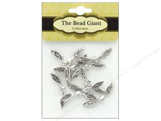 beading & jewelry making supplies: The Bead Giant Angel Wing-Heart 25 mm 10 pc Silver