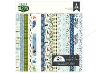 scrapbooking & paper crafts: Authentique Collection Alpine Paper Pad 12 in. x 12 in.