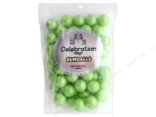 SweetWorks Celebration Gumballs 14 oz Stand Up Bag Shimmer Light Green