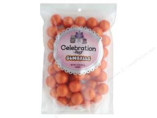 SweetWorks Celebration Gumballs 14 oz Stand Up Bag Shimmer Orange