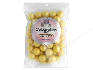 SweetWorks Celebration Gumballs 14 oz Stand Up Bag Shimmer Yellow