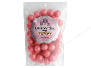 SweetWorks Celebration Gumballs 14 oz Stand Up Bag Shimmer Coral