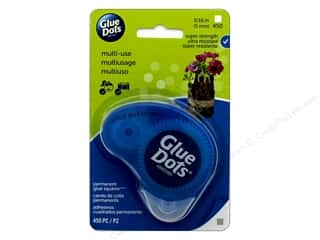 glues, adhesives & tapes: Glue Dots Permanent Square 3/16 in. Dot N Go Runner 450 pc