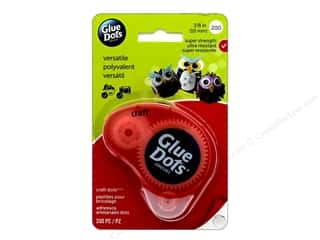 glues, adhesives & tapes: Glue Dots Dispenser Craft 3/8 in. 200 pc.