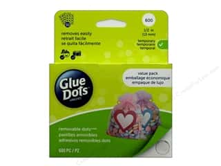 glues, adhesives & tapes: Glue Dots School Value Pack 1/2 in. 600 pc.