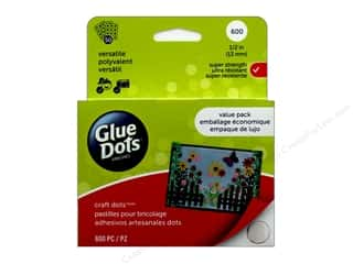 glues, adhesives & tapes: Glue Dots Value Pack Craft 1/2 in. 600 pc.
