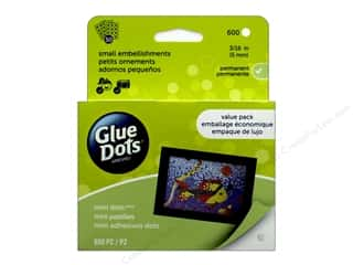 glues, adhesives & tapes: Glue Dots Value Pack Mini 3/16 in. 600 pc.