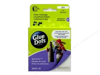 glues, adhesives & tapes: Glue Dots Glue Lines 1 in. Clear 200 pc.