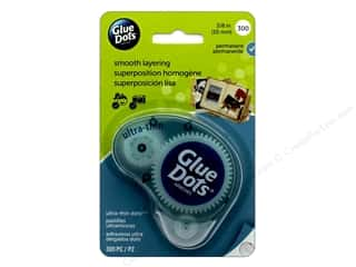 glues, adhesives & tapes: Glue Dots Dispenser Ultra Thin 3/8 in. 300 pc.