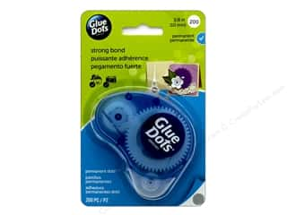 glues, adhesives & tapes: Glue Dots Dispenser Permanent 3/8 in. 200 pc.