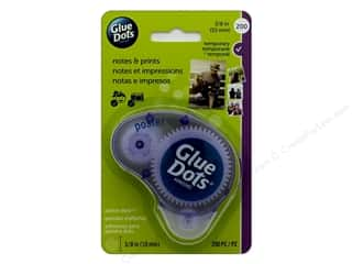 glues, adhesives & tapes: Glue Dots Dispenser Poster 3/8 in. 200 pc.