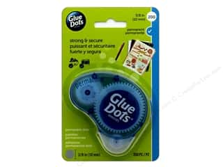"glues, adhesives & tapes: Glue Dots Permanent 3/8"" Dispenser 200 pc"