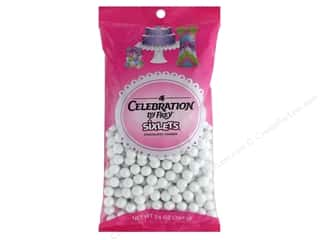 Clearance: SweetWorks Celebration Sixlets 14 oz. Shimmer White