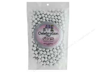 craft & hobbies: SweetWorks Celebration Sixlets 14 oz. Shimmer White