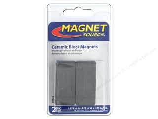 magnet: The Magnet Source Ceramic Block Magnets 3/8 x 7/8 x 1 7/8 in. 2 pc.