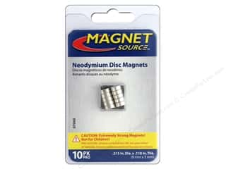 Magnets: The Magnet Source Super Neodymium Magnet Discs 1/3 in. 10 pc.