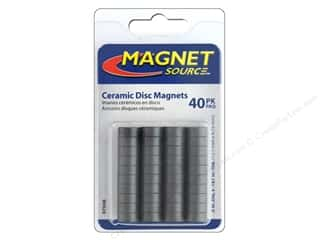 magnet disc: The Magnet Source Ceramic Disc Magnets 1/2 in. 40 pc.